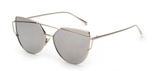 Cindy Shade Silver Sunglasses - Side View