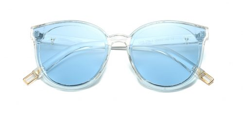 Vivian Sunglasses Transparent Blue