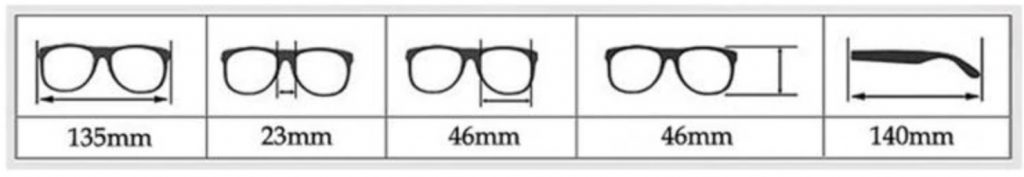 Clameo Collection Sunglasses - Dimensions